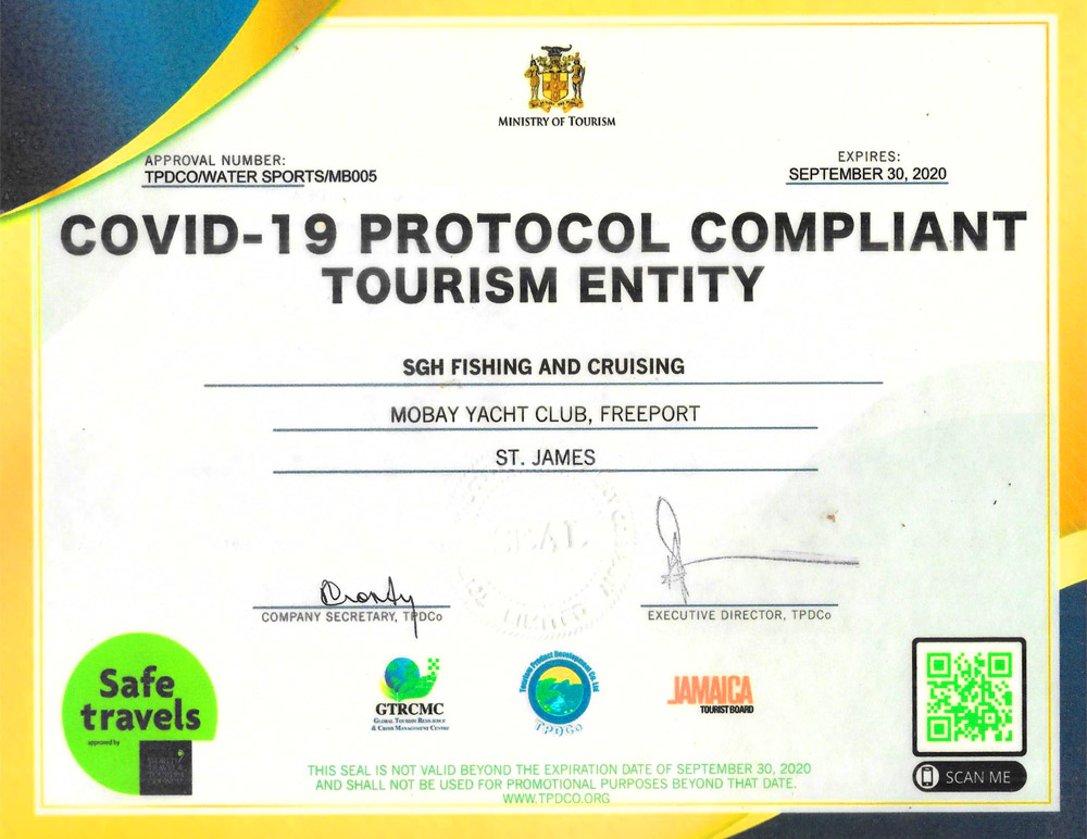 Covid 19 Protocol Compliant Seal of Approval